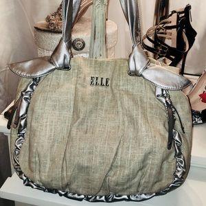 Elle Tan and Silver Shoulder Bag